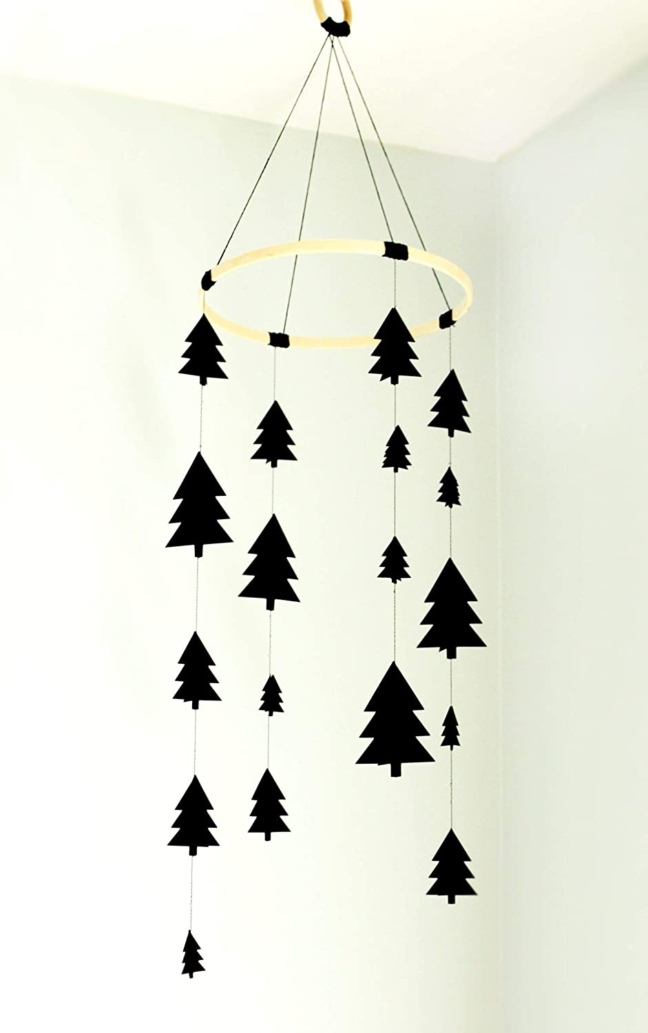 Woodland trees baby mobile