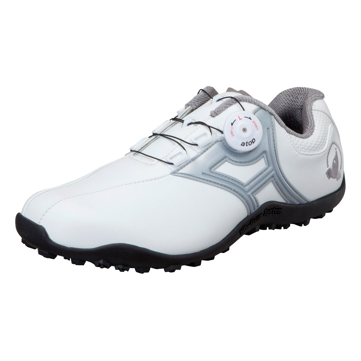 本間ゴルフ HONMA メンズ スパイクレス ダイヤルシューズ ホワイト/シルバー 27cm 3E SR-1604 原産国:中国 素材:甲(人工皮革) 、底(合成ゴム) B077HFJ59F
