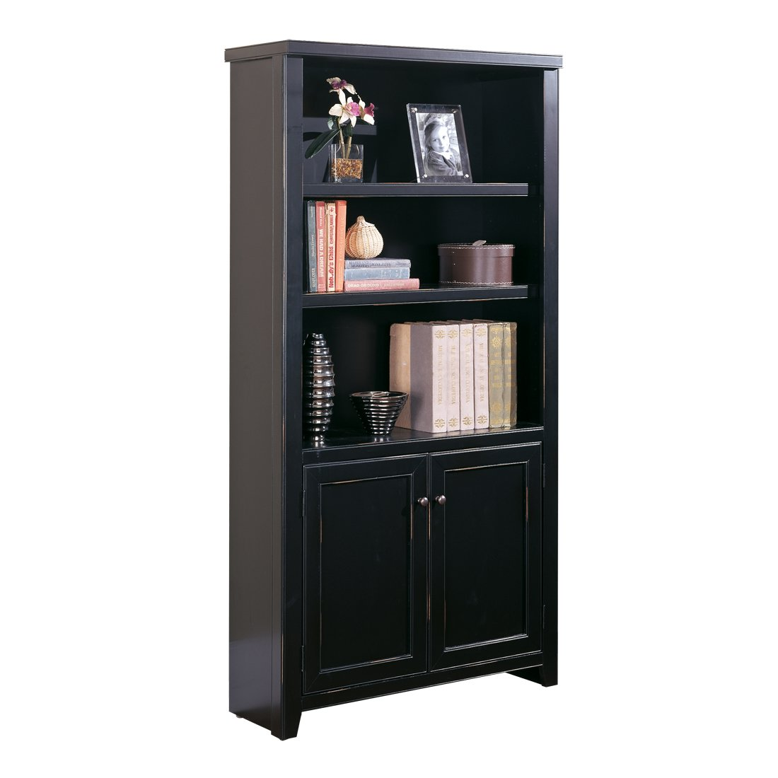 Martin Furniture Tribeca Loft Cherry Library Bookcase – Fully Assembled
