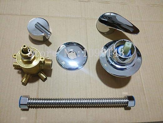 intubation 3 voies Tube mitigeur de douche s/épar/é 3//4//5 voies sortie deau salle de bains mitigeur de douche robinet douche HEHUANG 5 voies dintubation 8 CM