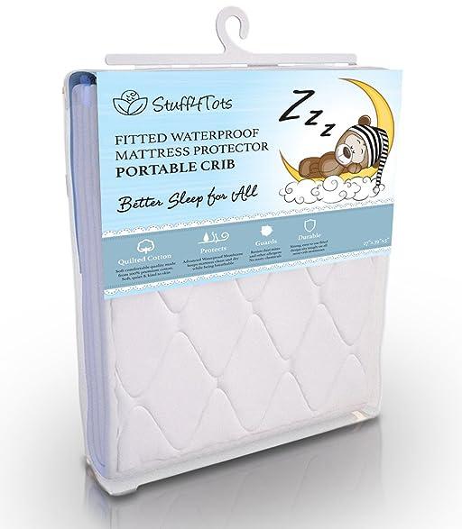 stuff4tots playard mattress protector pad waterproof minicrib cover washable 27x39 inch