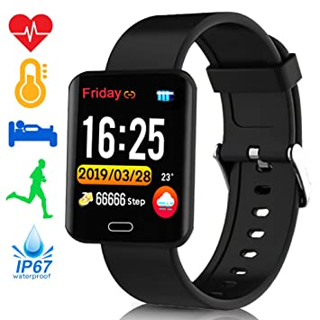 Amazon.com: TURNMEON Smart Activity Watch Waterproof ...
