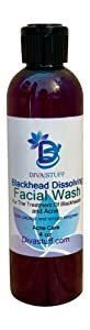 Blackhead Dissolving Face Wash, With Papaya Enzymes, Honey and A Lemon Cooling Peptide - Made in the USA with Safe Ingredients- By Diva Stuff, 4 oz
