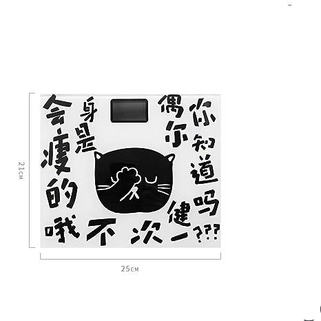 JTHKX Escala de Peso Corporal Peso Báscula de Baño Dibujos Animados Estudiante Dormitorio Precisa Escala doméstica