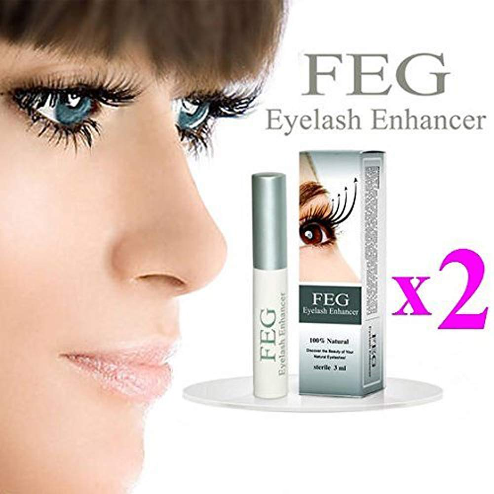 2X FEG Eyelash enhancer 2 pieces of most powerful eyelash growth Serum 100% Natural. Promote rapid growth of eyelashes by FEG Eyelash Enhancer