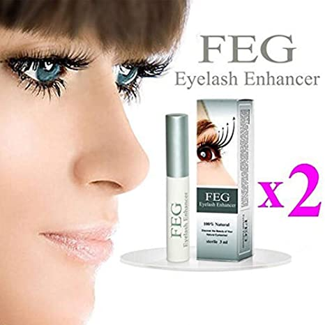 2ef016ba399 Amazon.com: 2X FEG Eyelash enhancer!!! 2 pieces of most powerful eyelash  growth Serum 100% Natural. Promote rapid growth of eyelashes by FEG Eyelash  ...