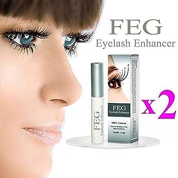 0d53f8cff6f Amazon.com: 2X FEG Eyelash enhancer!!! 2 pieces of most powerful eyelash  growth Serum 100% Natural. Promote rapid growth of eyelashes by FEG Eyelash  ...
