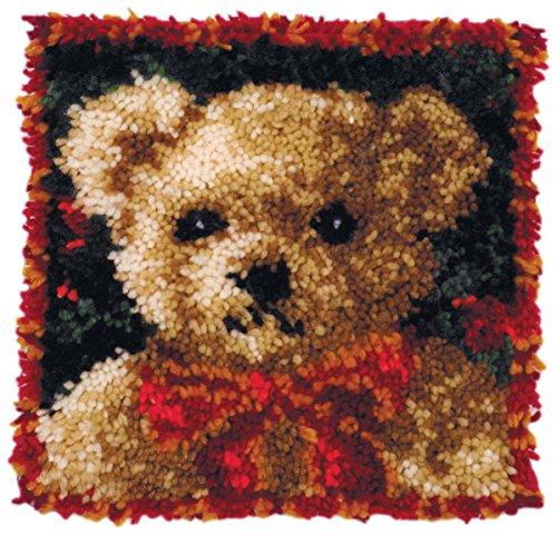 Hook Latch Pillow Bear (MCG Textiles Girl Bear Latch Hook Pillow Kit)