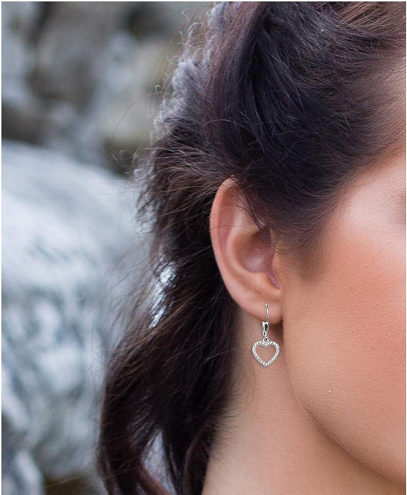 SOFIA MILANI Boucles dOreilles Femme Coeurs 925 Argent 20463