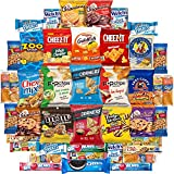Ultimate Snacks Sampler Care Package (50 Count) - Bulk Cookies, Chips, Crackers, Candy, Mixed Bars Variety Pack - Friends & Family, Military, College Food Box by Variety Fun