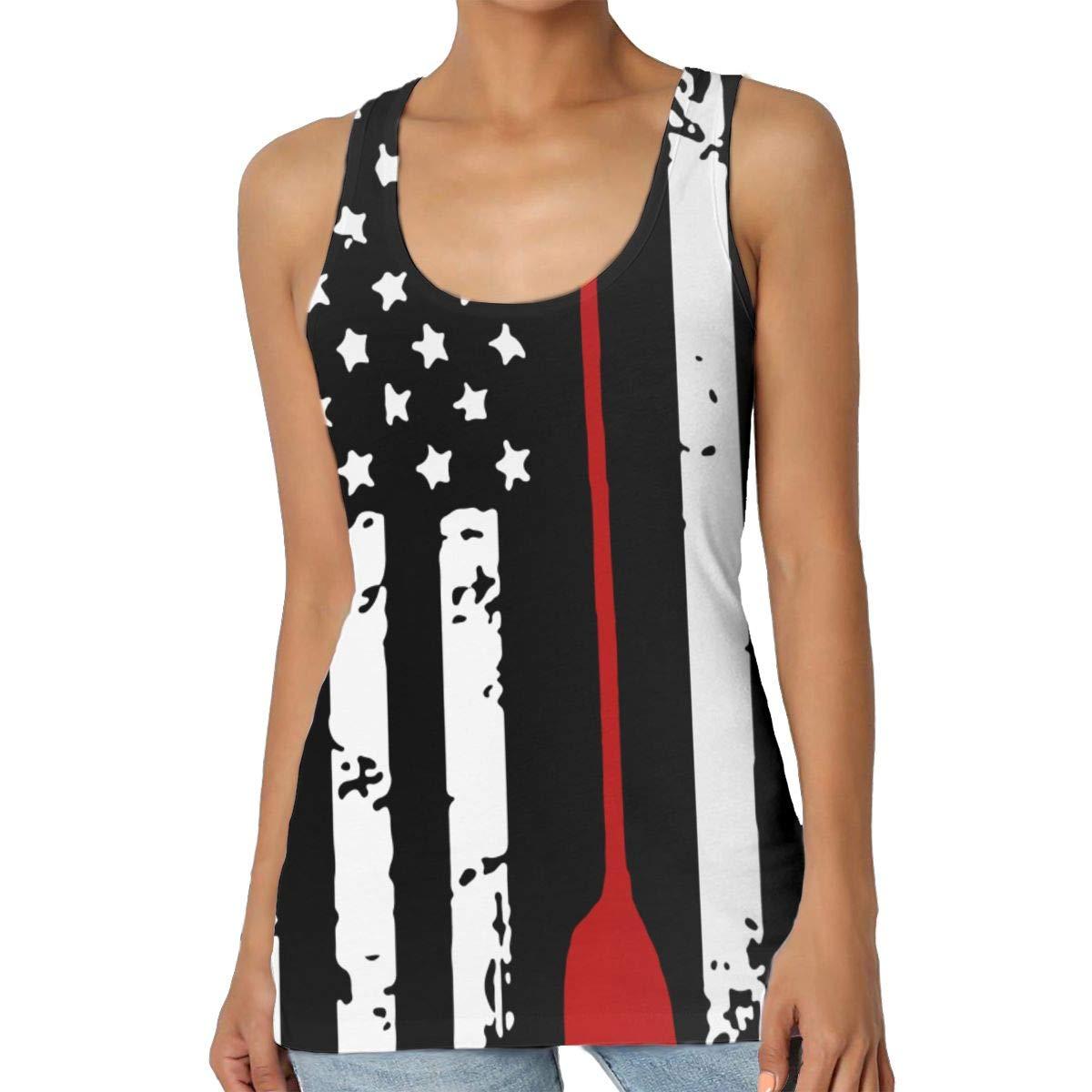 S-XXL Ij4T3Oo@ Womens American Kayak Muscle Sleeveless Tee Durable Vest for Training