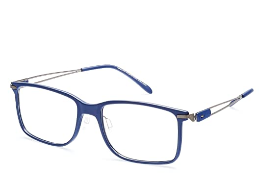 db36ad9ae28a Charm Classic Style Rectangle Eyeglasses Frame Clear Lens Glasses M1019  (Blue)