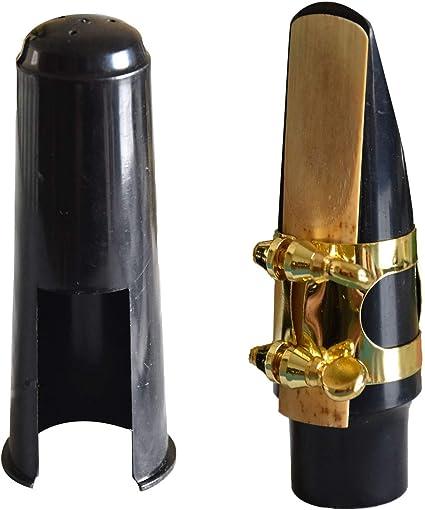Alto Saxophone Sax Mouthpiece Cover with Ligature Black