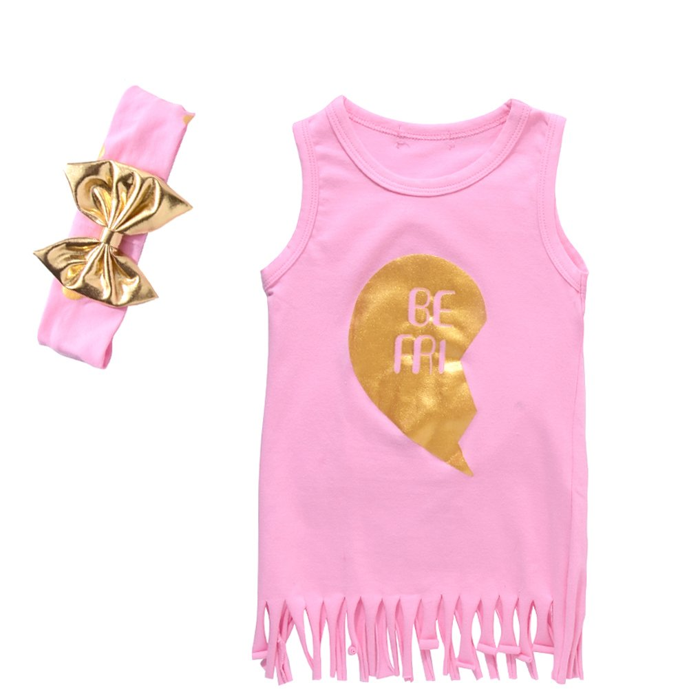 2a7422400e71 Special design: the two words \'BEST FRIEND\'\' split into \'BE FRI\' and  \' ST END\'. Suitable for two girls to wear this sets. We sell the dress ...