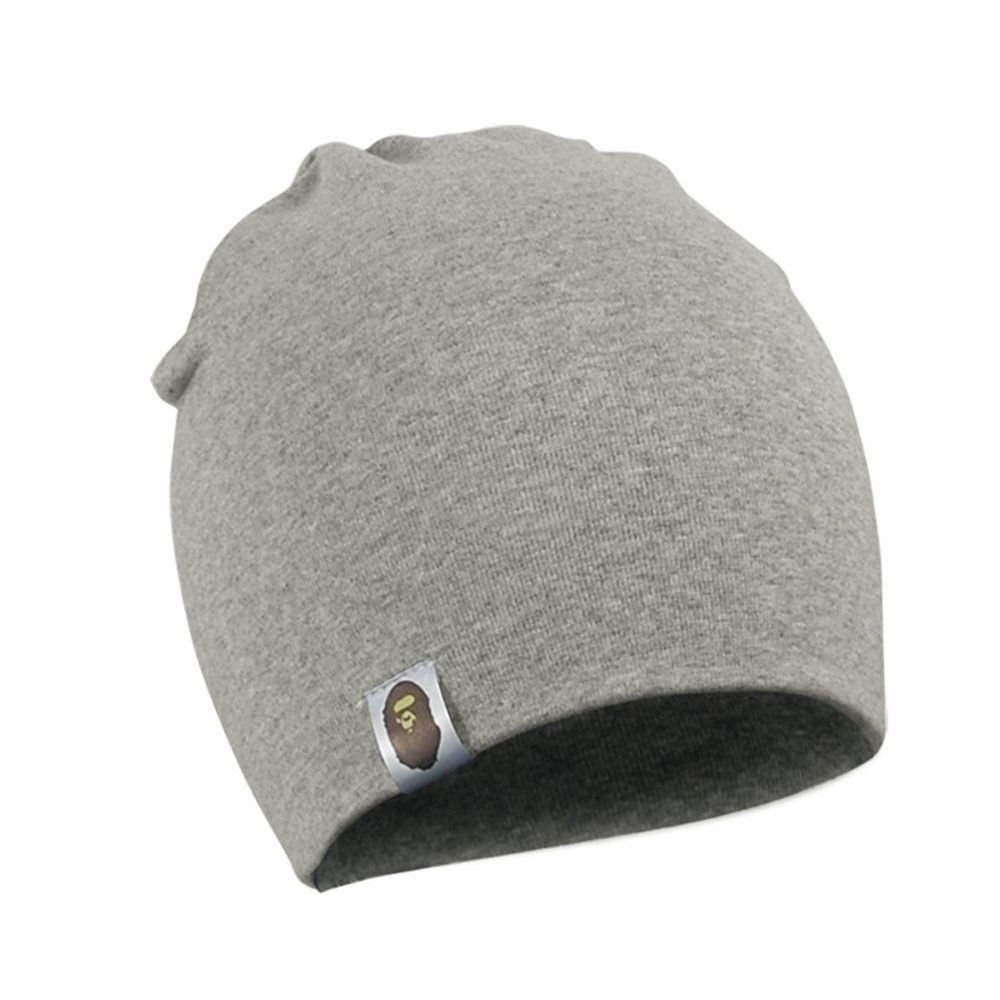 Newin Star Bonnet de Tricot, Chapeau Unisexo pour Nouveau-né bébé, 100% Coton/Gris