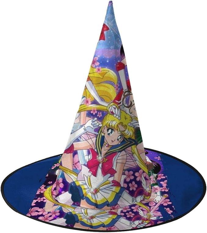 NUJIFGYTCRD Sailor Moon Super Group Sombrero de Bruja para ...