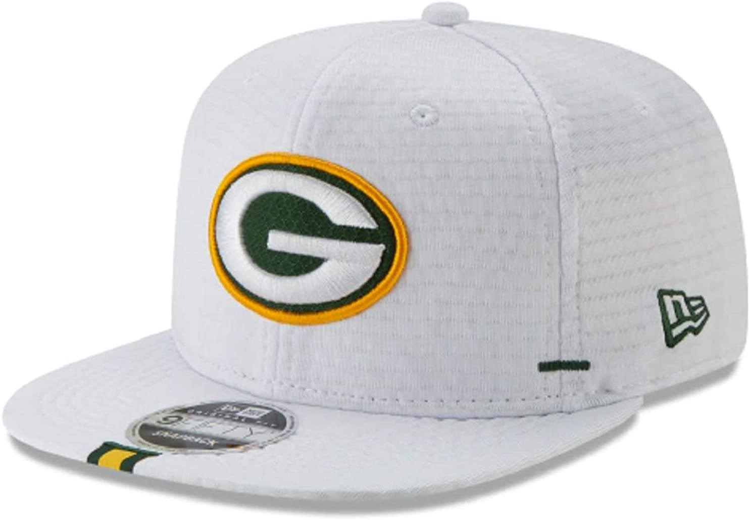 New Era Green Bay Packers 2019 NFL Sideline Training White 9Fifty Adjustable Cap Hat