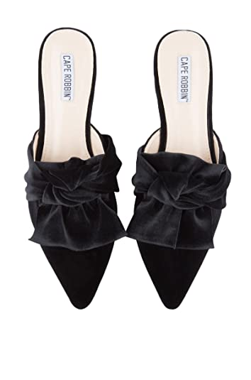 210bd3ce5a87 CAPE ROBBIN Women s Bow On Me Pointed Toe Flat