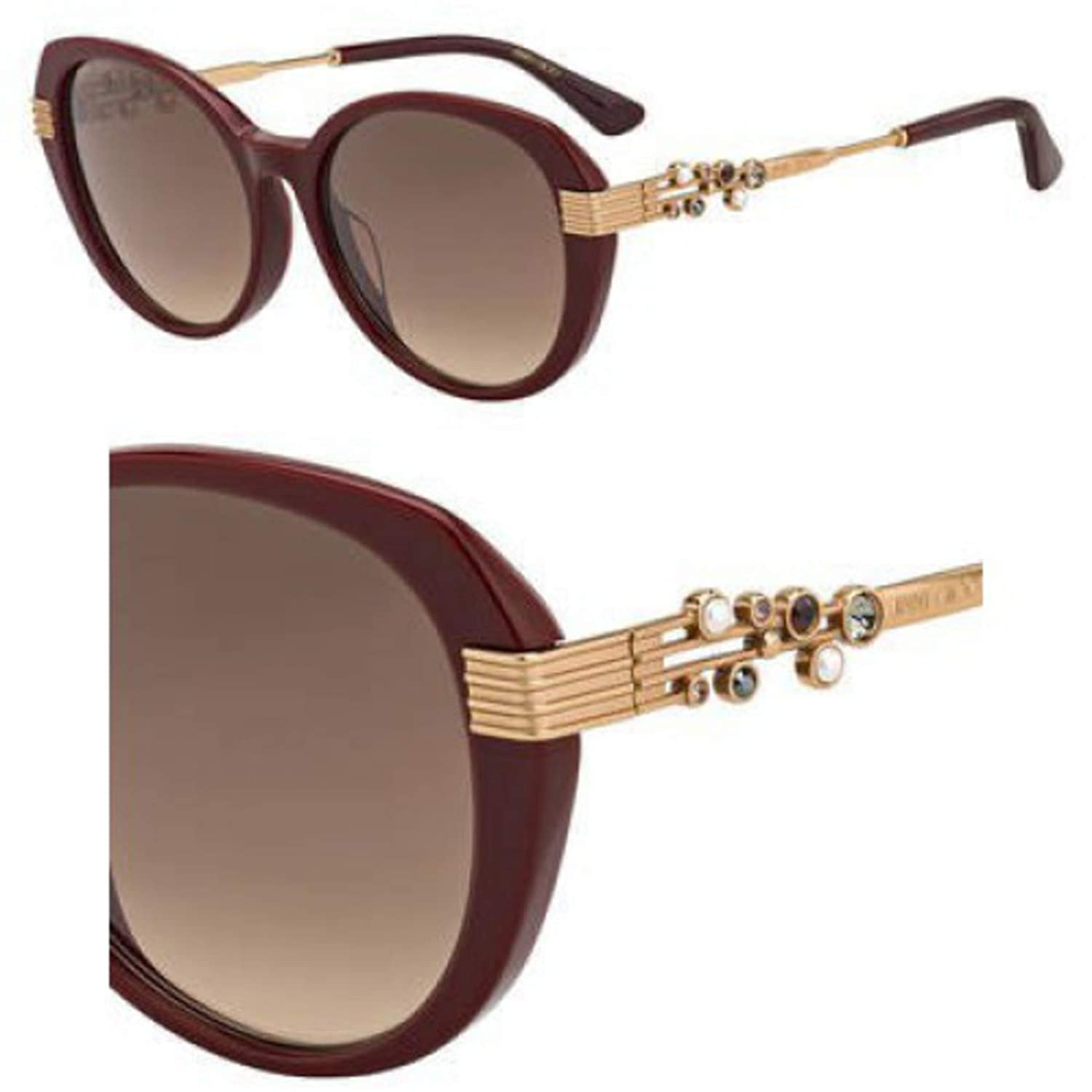 Sunglasses Jimmy Choo Orly//F//S 0LHF Opal Burgundy//HA brown gradient lens