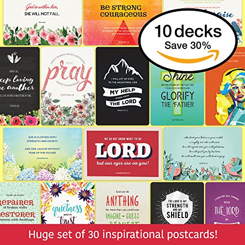 the Hope Deck - 30 Inspirational Christian Cards for all Occasions • Christian Gifts for Women and Men • Inspirational Gifts • Prayer Cards • Christian Postcards • Made in USA • 4x6'' by the Hope Deck