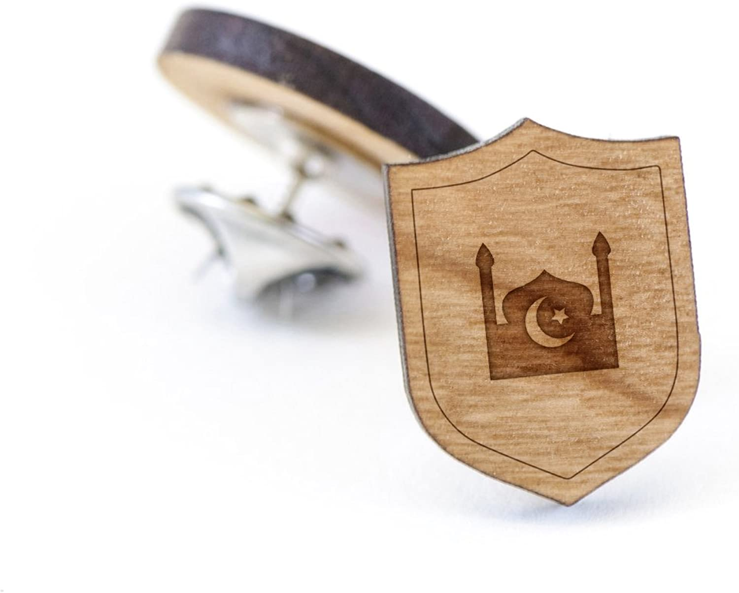 Mosque Lapel Pin Wooden Pin