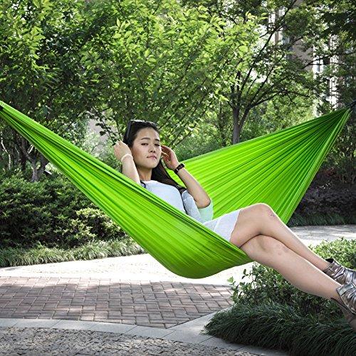 Europa Outdoor Nylon Farbe doppelt geheftet Super leichte Netze Doppelhängematte Camping 477