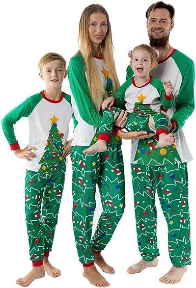 FELZ Pijamas Dos Piezas Familiares de Navidad Ropa de Dormir ...