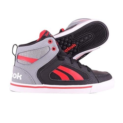 ReebokKsee You Mid - Zapatillas de Deporte Unisex Niños, Negro (Noir (Black/Grey/China Red/White)), 35: Amazon.es: Zapatos y complementos