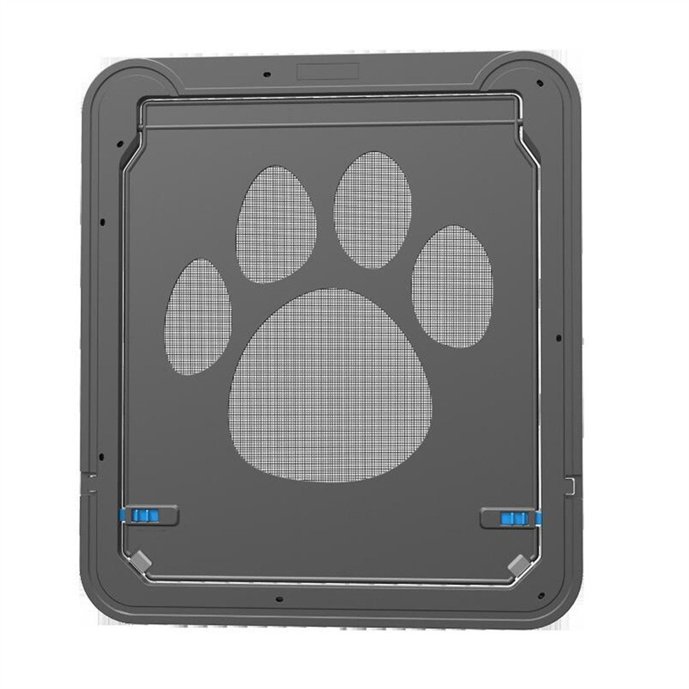 Homeself Pet Screen Door, Kitten Puppy Magnetic Self-Closing Automatic Slide Lock Mesh Window Screen Door, Lockable Safety Nets Entry Gate Protector for Small Medium Large Dogs Cats (Large) by Homeself (Image #2)