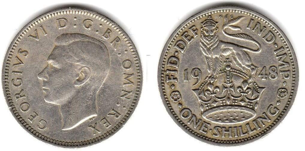 Monedas para coleccionistas y la Gran Caza de Monedas brit/ánicas. Inglaterra no te decepcionar/á Moneda de Cambio Desconocido 1948 One en Buen Estado