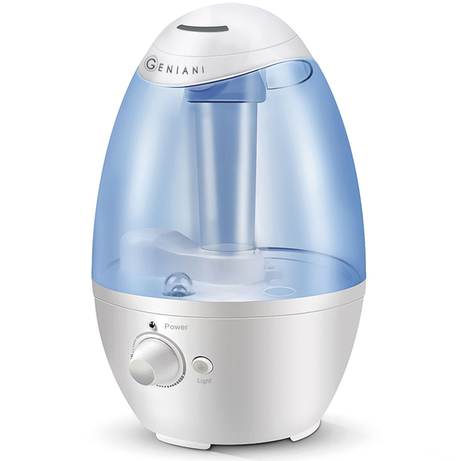 Ultrasonic Cool Mist Humidifier - Best Air Humidifiers for Bedroom / Living Room / Baby with Night Light - Whole House Solution - Large 3L Water Tank - Auto Shut Off & Filter-Free - Gift Box