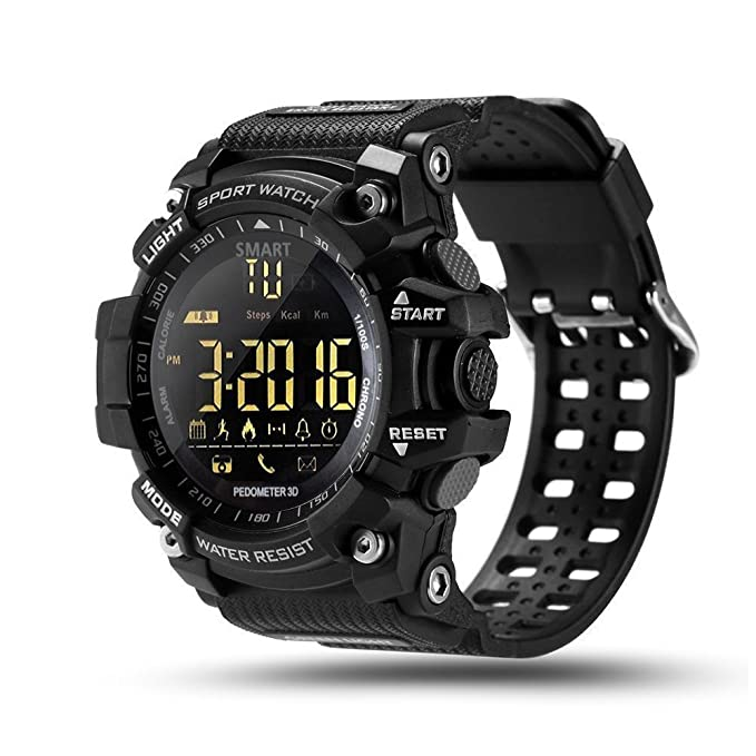 Smart Watch With Heart Rate Monitor Ip54 Waterproof, Remote Camera Fitness Tracker Sleep Analysis Calorie Counter Pedometer For I Os Android by Fortunetek