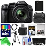 Panasonic Lumix DMC-FZ300 4K Wi-Fi Digital Camera with 64GB Card + Battery + Case + Tripod + 3 Filters + DigitalAndMore PRO Accessory Kit For Sale