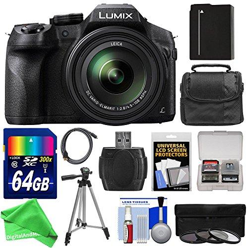 Panasonic Lumix DMC-FZ300 4K Wi-Fi Digital Camera with 64GB