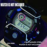 Supachis Watch Screen Protectors, Wire Watch Guard Protector Compatible with Casio Watch Case GW-9400 100% Metal Stainless St