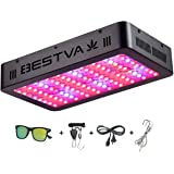 BESTVA 1000W LED Grow Light Full Spectrum Dual-Chip Growing Lamp for Hydroponic Indoor Plants Veg and Flower