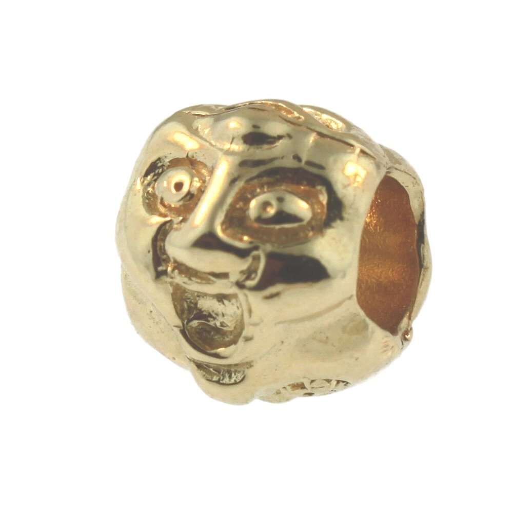 Authentic Trollbeads 18K Gold 21105 Faces