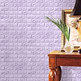 Wall Tiles Peel and Stick, Coerni PE Foam 3D Wallpaper Wall Stickers Decals (Purple)