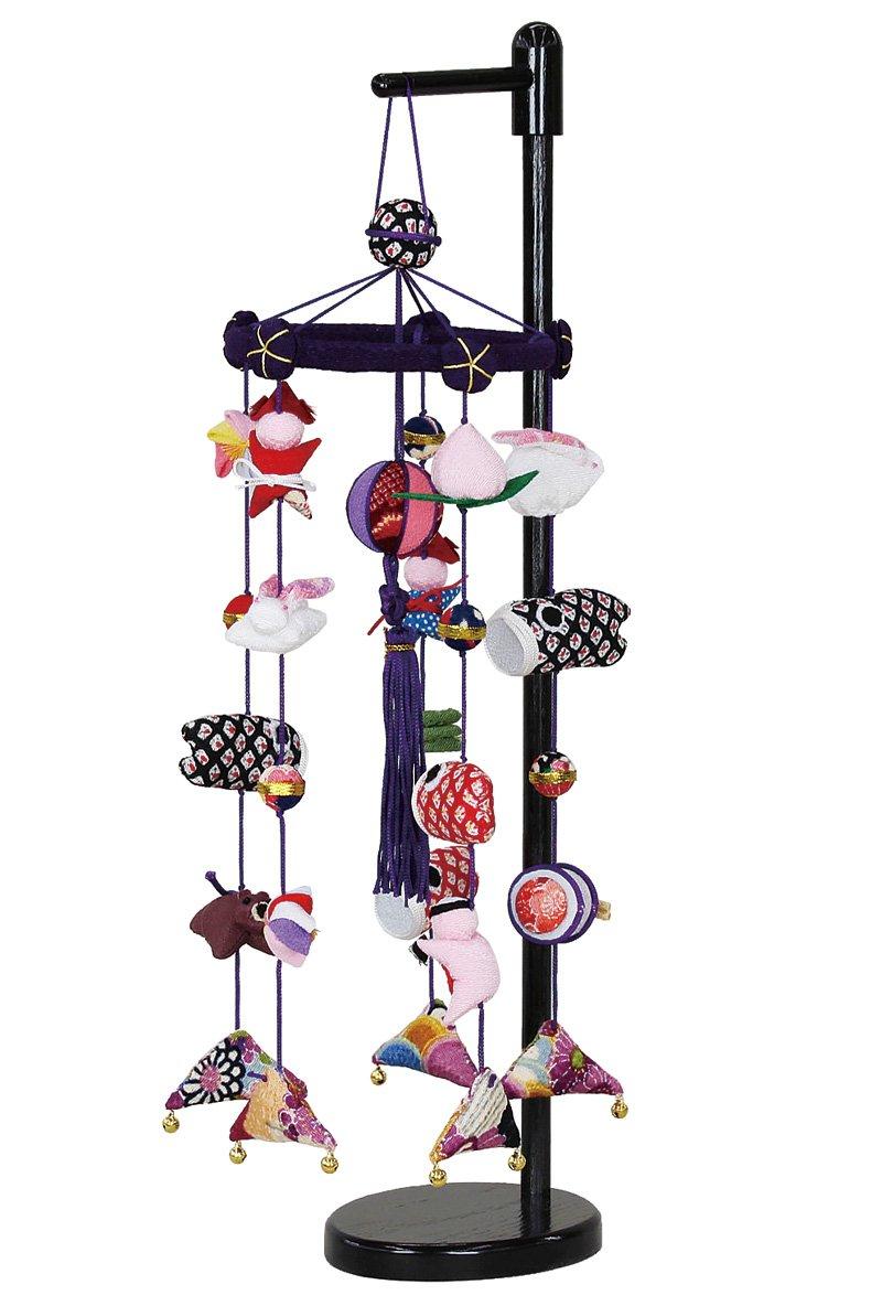 五月人形 室内用 室内飾り つるし飾り ミニ五連飾り 鈴付 飾り台付 h315-fz-5640-56-003 B01BNA5W0S