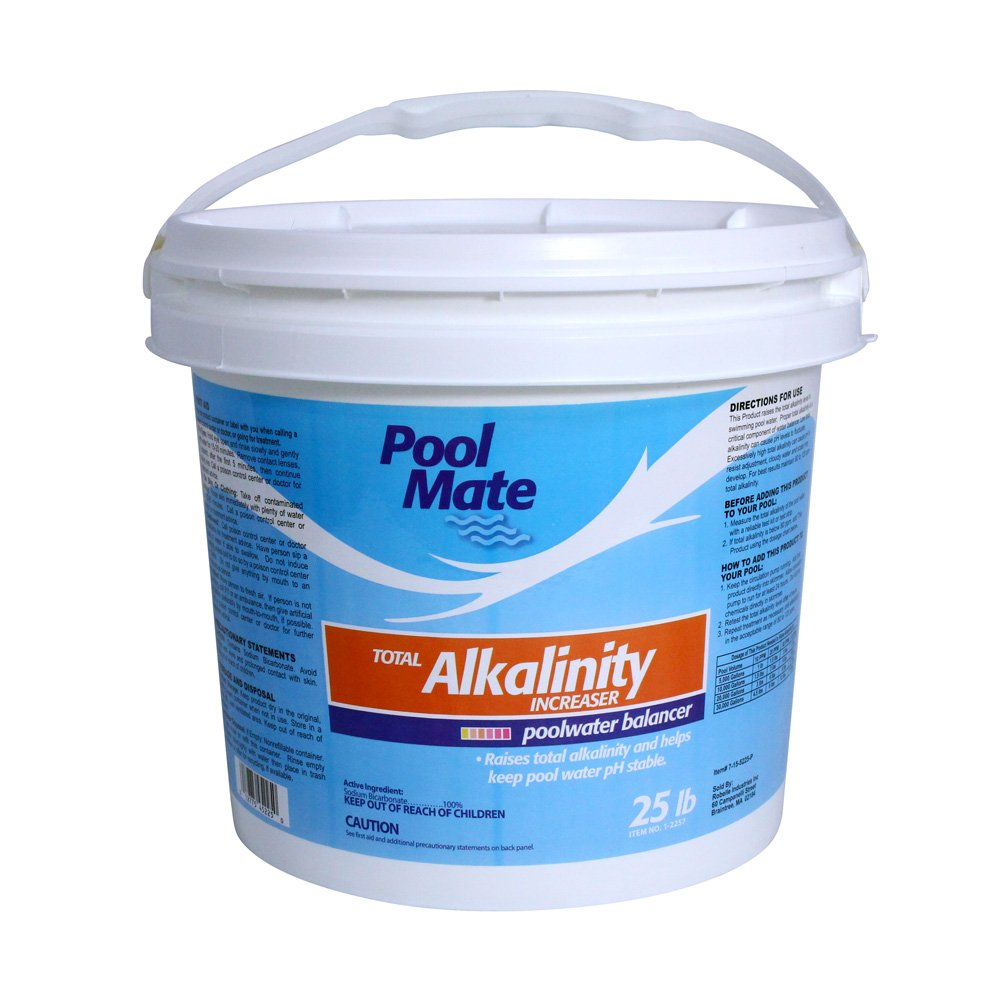 Pool Mate 1-2257 Total Alkalinity Increaser for Swimming Pools, 25-Pound by Pool Mate