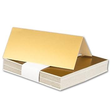 gefaltet 100 x 45 mm 50x Tischkarten in Honig-Gelb I Gr/ö/ße: 100 x 90 mm Sehr schwere und stabile Qualit/ät I Aus der Serie FarbenFroh von NEUSER! I 240 g//m/²