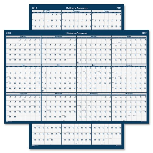 "House of Doolittle Laminated Poster Style Yearly Wall Calendar, January-December, 2013, 24"" x 37"""