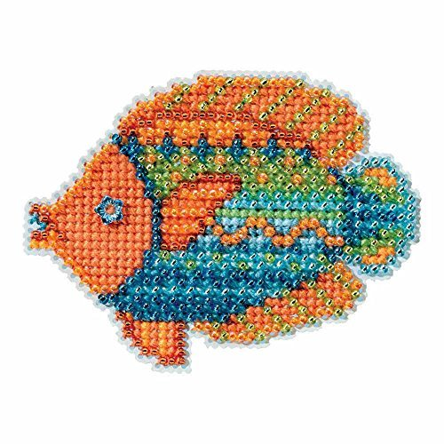 - Fancy Fish Beaded Counted Cross Stitch Ornament Kit Mill Hill 2016 Spring Bouquet MH181613