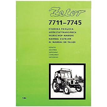 Zetor 7711 7745 tractor brochure