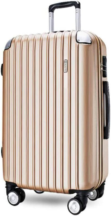 34 22 55 cm Color Color : Champagne, Size : 171126 inch Size Black Aishanghuayi Suitcase for Stylish Men and Women Boarding Lock Boxes