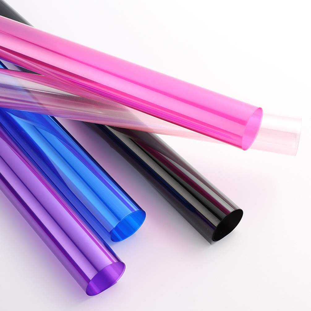 NUOBESTY 20pcs Cellophane Colorful Wrap Roll Waterproof Cellophane for Wrapping Arts Party Supplies Craft Gift Bouquet,60x60cm 7 Colors