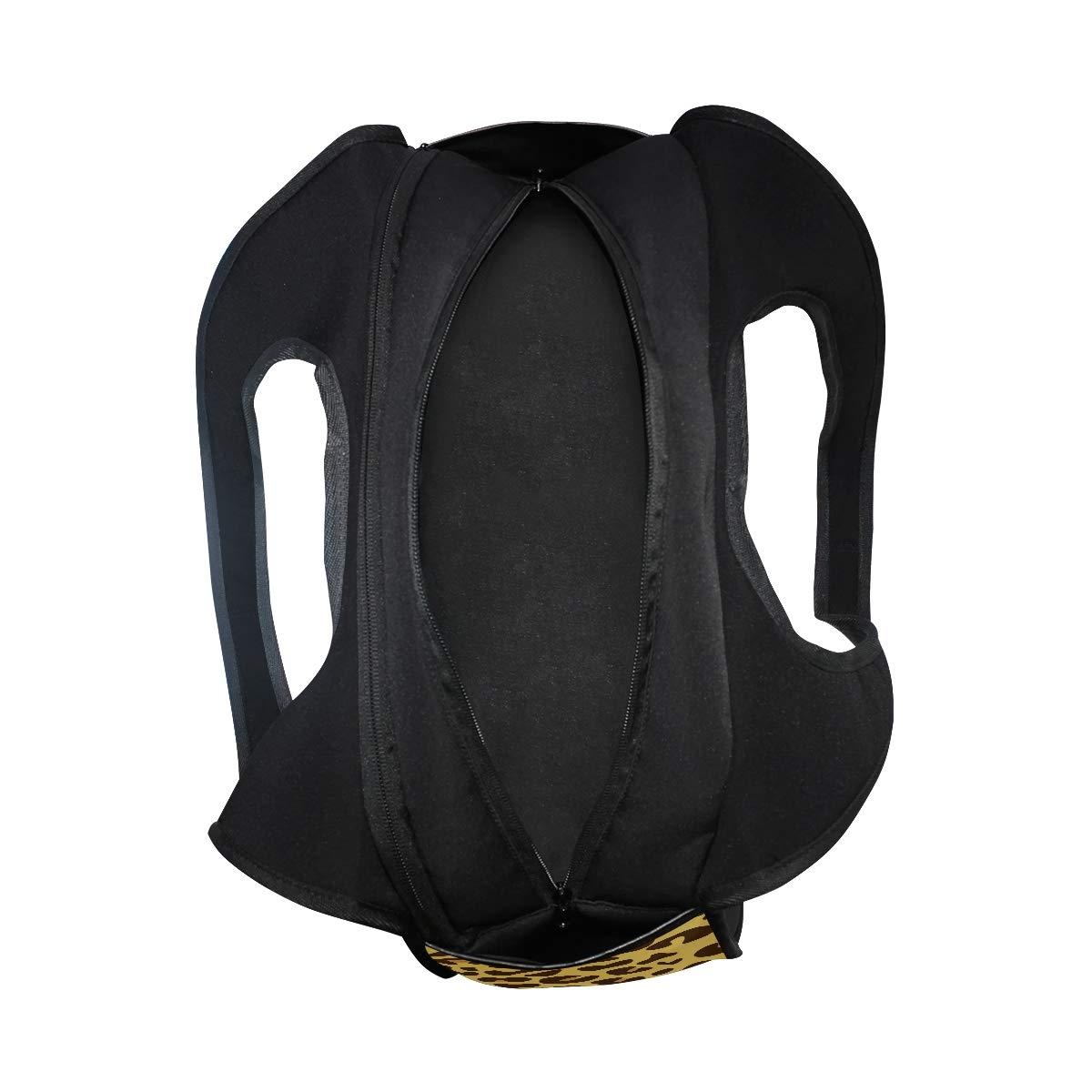Animal Leopard Print Women Sports Gym Totes Bag Multi-Function Nylon Travel Shoulder Bag