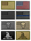 #5: WZT Bundle 8 pieces american flag Tactical Military Morale Patch Set