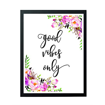 picture relating to Printable Wall Decor called signatives Constructive Vibes Simply - Printable Wall Artwork Prints