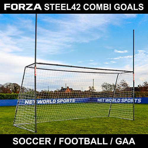 Net World Sports 15 x 7 Forza Steel42 Gaelic & Hurling Goal Posts - The Premium Backyard Goal from Net World Sports